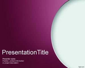 Plantilla gratis de PowerPoint para Taller con efecto curvo y fondo violeta