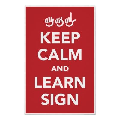 Learn ASL! For my friends April and Shameka