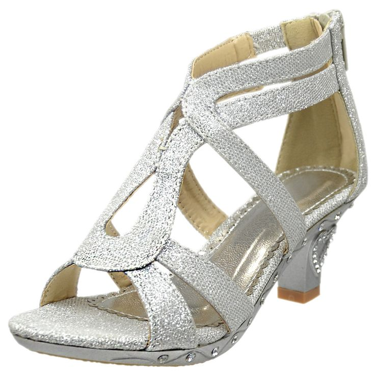 Whether it's for a pageant, wedding or party, this adorable shoe is the perfect choice for your little fashionista.