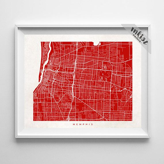 Memphis Map, Tennessee Print, Memphis Poster, Tennessee Art, Bedroom Wall Art, Custom Gifts, Arty Print, Holiday Gift, Christmas Gift, Wall Art. PRICES FROM $9.95. CLICK PHOTO FOR DETAILS. #inkistprints #map #streetmap #giftforher #homedecor #nursery #wallart #walldecor #poster #print #christmas #christmasgift #weddinggift #nurserydecor #mothersdaygift #fathersdaygift #babygift #valentinesdaygift #dorm #decor #livingroom #bedroom