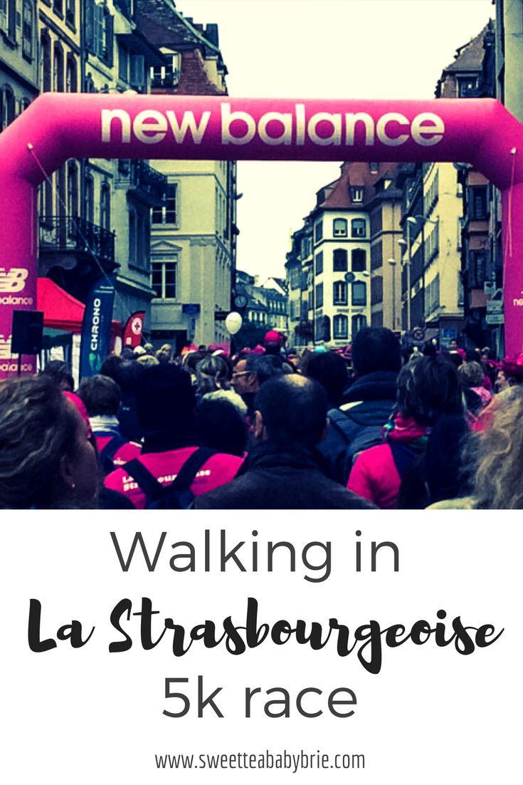 Walking in La Strasbourgeoise 5K race