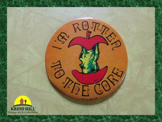 ReTrO I'm Rotten To The Core Large Pinback by KressHillVintage, $10.50