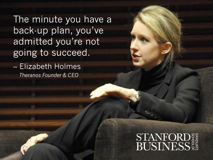 "Success is one person's life being better because of what we do, shared Elizabeth Holmes, the founder and CEO of medical device and technology company Theranos. ""Now it's about doing it again and again for more and more people."" Read more insights on Twitter from her Stanford GSB View From The Top talk: stanford.io/1qEOogA #GSBvftt"