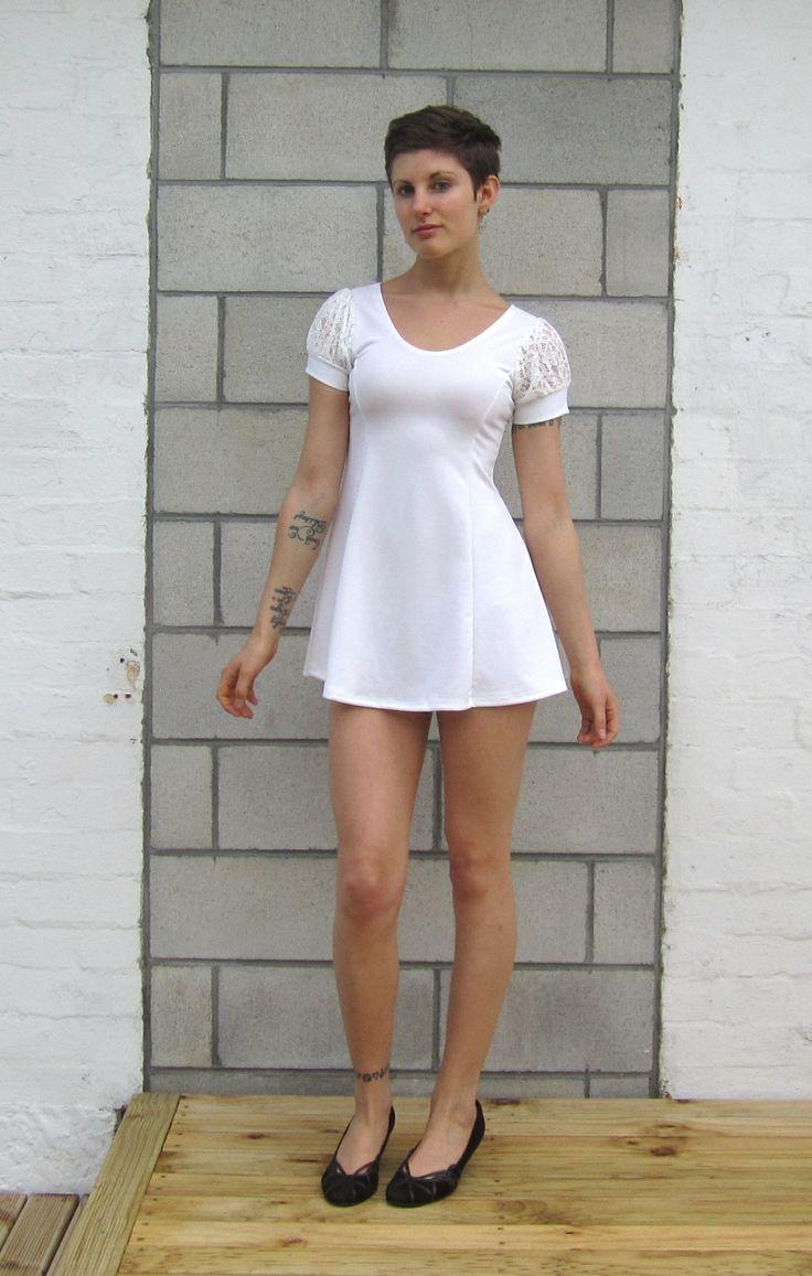 Short Sleeved White Dress Size 06 $19.99