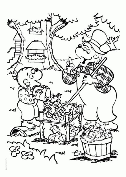 Awesome Lovely Berenstain Bears Coloring Pages Online