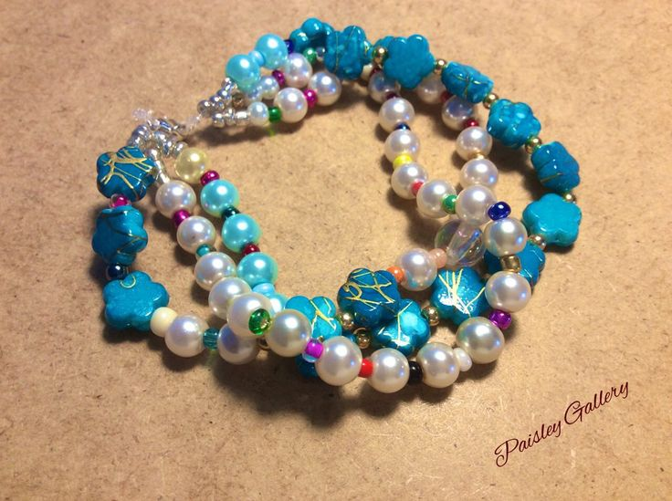Zz Beaded Bracelets, Beaded Bracelet, Glass Beads, Beads, artificial Pearls, Steal hang decorations, steal, well designed, stylish, Unique by PaisleyGI on Etsy