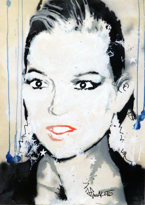 JP Malot - Kate  Origineel werk op 220grs kunst papier formaat 50x70cm. IkUnieke serie van 6 kopieën absoluut allemaal verschillend handgemaakte met spuitbussen stencils acryl Molotow en Posca inktenOndertekening op de voor- en achterkant tagged JPM-4/6-Parijs-2017.Gekocht rechtstreeks vanuit de studio van de kunstenaar.Een officiële factuur en een certificaat van echtheid ondertekend door de kunstenaar en afgestempeld door de galerie zijn inbegrepen.Verzending door Colissimo beschermde buis…
