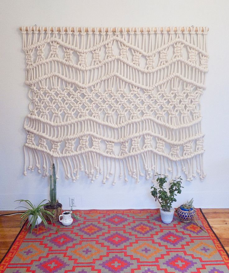 best 25 macrame wall hanging patterns ideas on pinterest. Black Bedroom Furniture Sets. Home Design Ideas