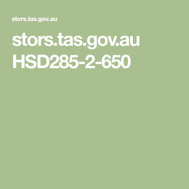 stors.tas.gov.au HSD285-2-650
