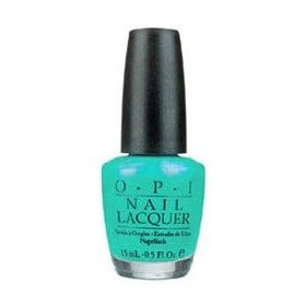 OPI Azure For Sure NLB25 Nail Polish, (opi, nail polish, shrek nail polish, katy perry collection, best nail polish, shrek, sky blue, crackle, blue, glitter)