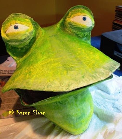 Frog Mask :: Papier-mache #theatre #costume