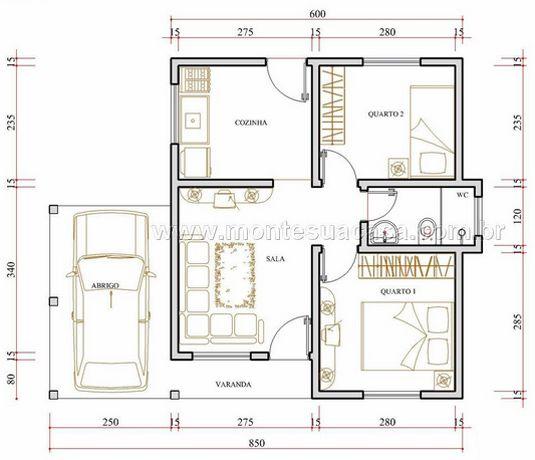 6 Modelos De Plantas De Casas At 233 65m2 Casa Dos Sonhos