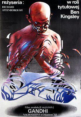 Gandhi - Mindblowing Polish Movie Posters  Best of Web Shrine