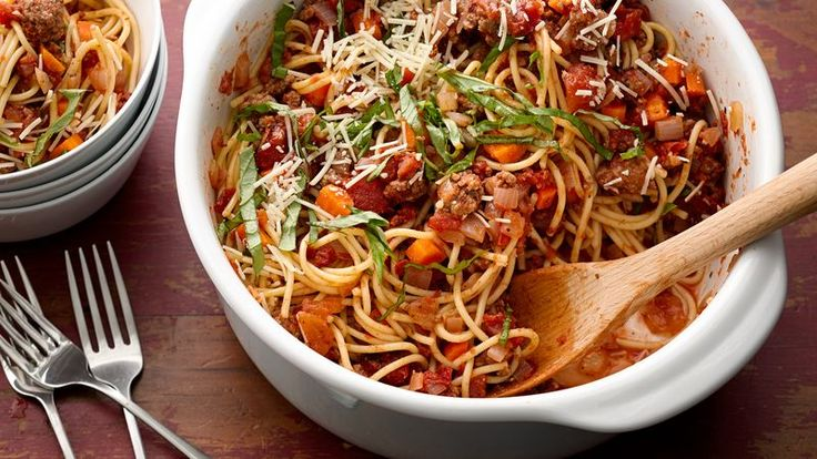 This flavorful one-pot pasta is rich, meaty and filling--perfect for a fast weeknight dinner the whole family will enjoy.