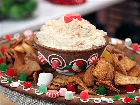Gingerbread Platter and Bowl with Candied Walnut Mousse and Cinnamon Sugar Chips Videos : Food Network