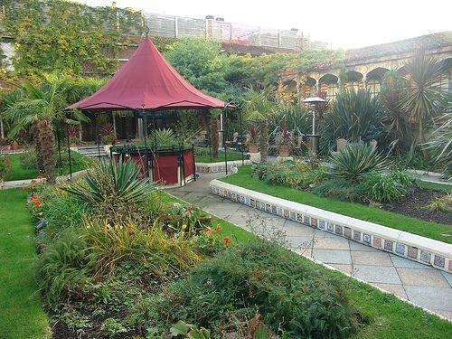 The spanish gardens in the Roof Garden London