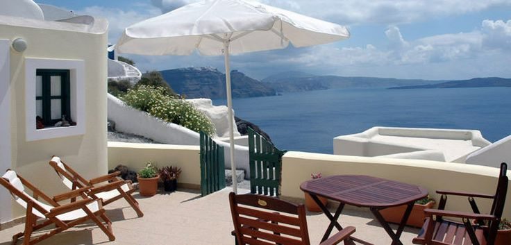 Anemomilos Santorini Hotel in Oia - Wonderful sea view from the veranda of a private villa http://www.anemomilos.com/oia-santorini-villas.html