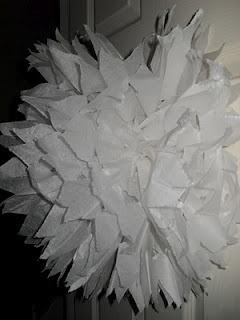 Tissue paper snow flake pom pom!