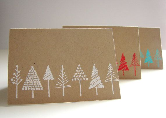 Mini Christmas Card by PaperBeatsRock1 on Etsy, $3.00