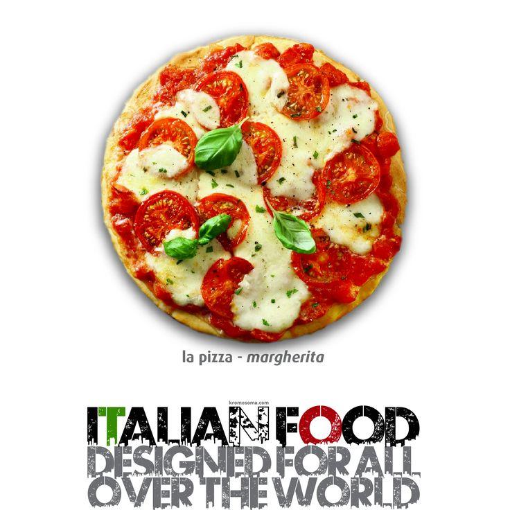 ITALIAN FOOD - designed for all over the world - la Pizza - Pizza Margherita #masterfoodesign #iedroma #foodesign #design #food #drink #kromosoma #francescosubioli #architecture #art #cibo #beverage #dop #doc #docg #alimentare