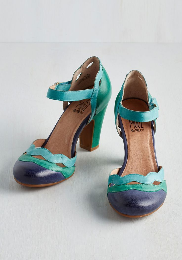 Miz Mooz Sights in the City Heel in Teal