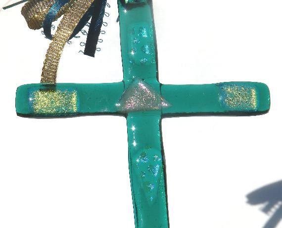 Wall Crosses,Religous gifts,Glass Crosses,Fused Glass Crosses,Glass Sun Catcher,Unique Wall Crosses,Decorative Crosses 01 by SuspendedStar on Etsy