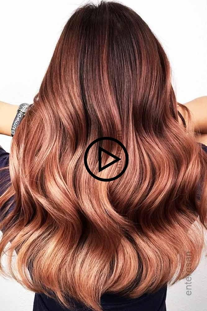 Mahagoni To Rose Gold Ombre Rothaar Ombre Mahagoni Haar Ist A Muss Fur Ihre Wenn Ihr Nun Wol Mahagoni Haare Langhaarfrisuren Haarfarben
