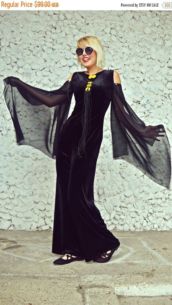 New in our shop! SALE 25% OFF Black Velvet Jumpsuit / Extravagant Velvet Jumpsuit / Funky Loose Jumpsuit / Velvet Jumpsuit with Chiffon Sleeves TJ26 https://www.etsy.com/listing/476014082/sale-25-off-black-velvet-jumpsuit?utm_campaign=crowdfire&utm_content=crowdfire&utm_medium=social&utm_source=pinterest
