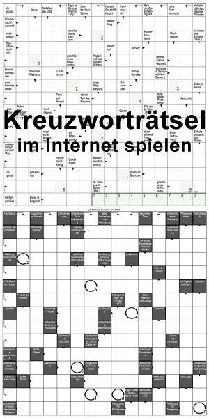 Kreuzworträtsel kostenlos im Internet spielen