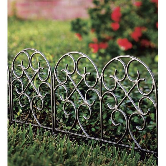 Lovely Garden Edging Defines Beds And Pathways. Our Durable Wrought Iron Garden  Edging Is A Great Landscape Solution. Shop Decorative Garden Edging And  Fencing ...