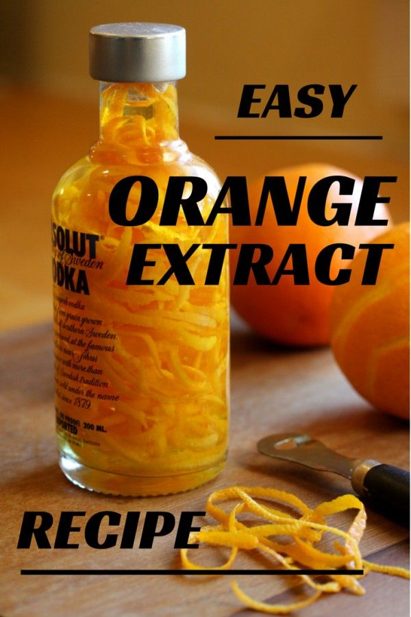 Orange Extract recipe makes great gifts for any baker | http://chloesblog.bigmill.com/homemade-orange-extract-recipe/
