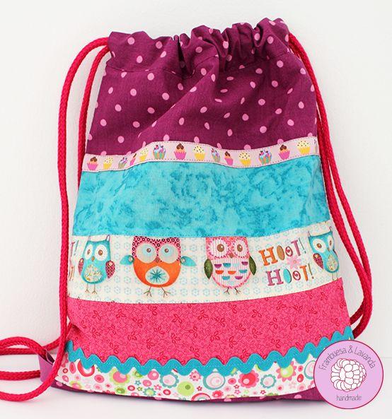#mochila #niña #patchwork #handmade