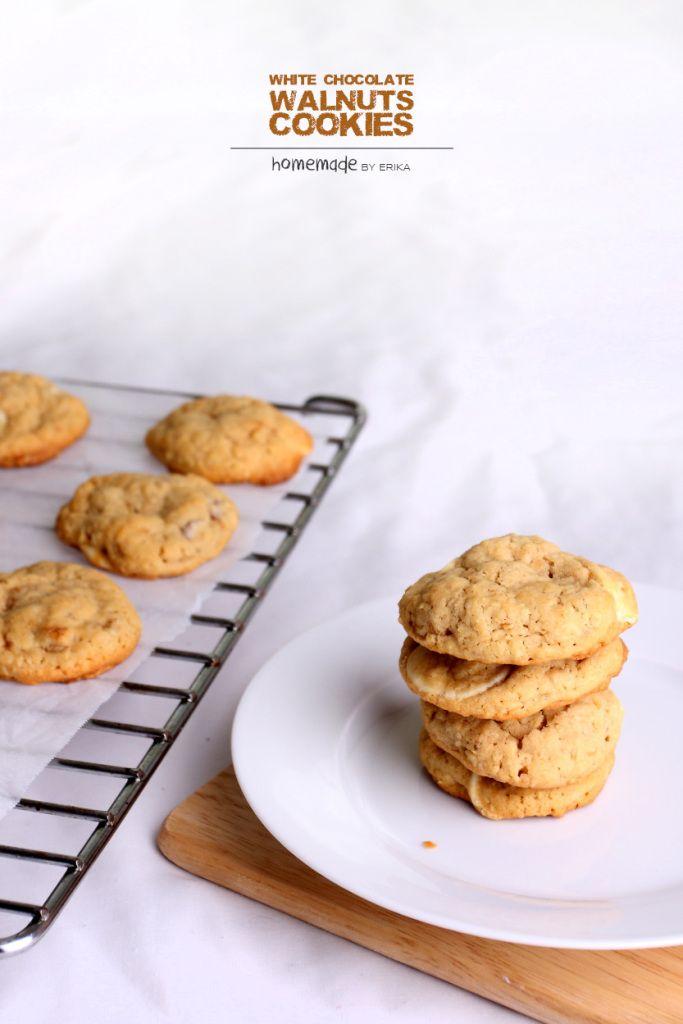 White Choc Walnuts Cookies. Yum!