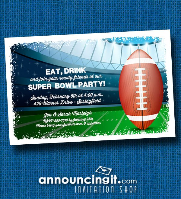 Stadium Super Bowl Party Invitations at Announcingit.com - See the entire Super Bowl Invitation collection at Announcingit.com