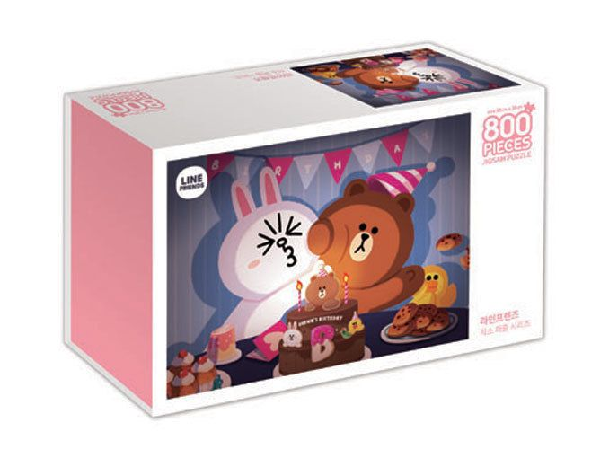 Naver Line Friends Characters 800 pieces Toy Jigsaw Puzzles Brown's Birthday #LineFriends