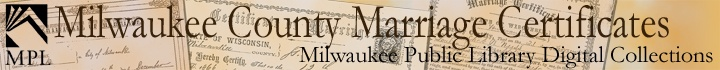 Milwaukee County Marriage Certificates