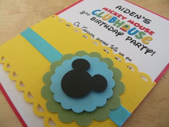 47 best Mickey Mouse Club House Birthday Party Concept images on – Handmade Mickey Mouse Birthday Invitations
