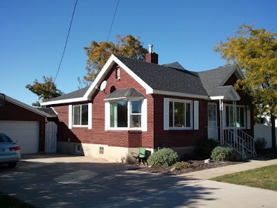 79 best images about curb appeal on pinterest red for Brick houses without shutters