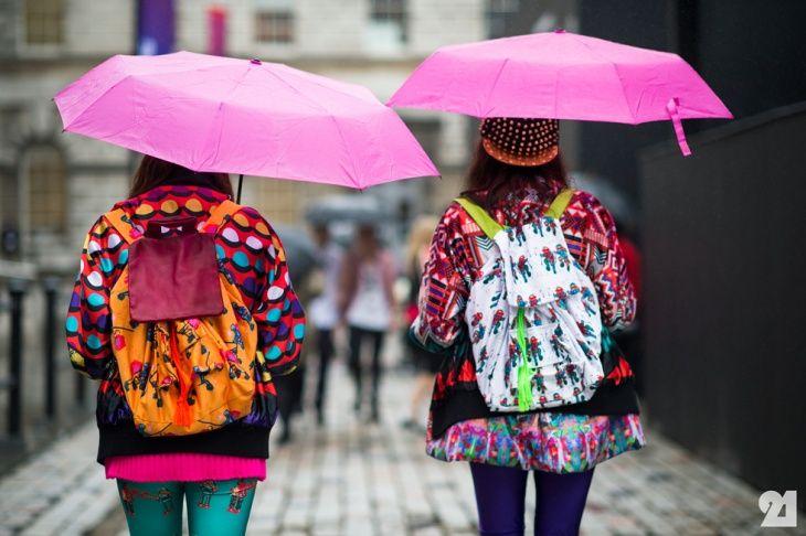 Модный лондонский дождь (большая подборка с LFW ss 2014) / Street Style / ВТОРАЯ УЛИЦА
