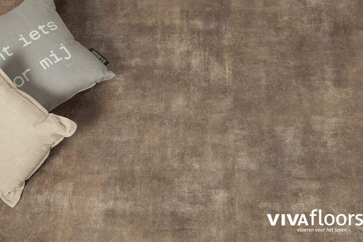 Mooie betonlook pvc tegel van vivafloors kleur vs 1160 - Vloeren vinyl cement tegel ...
