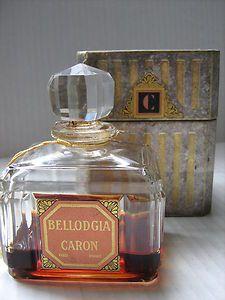 "Antique ""Bellodgia"" by Caron Perfume Bottle & Box Signed Baccarat Bottle Stopper | eBay"