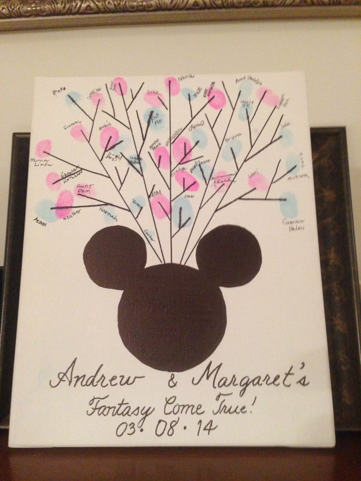 Gender Reveal thumbprint guess with a disney flair :)