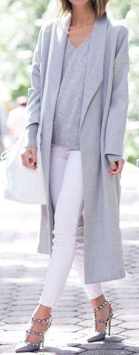 Grey + White // #street #style