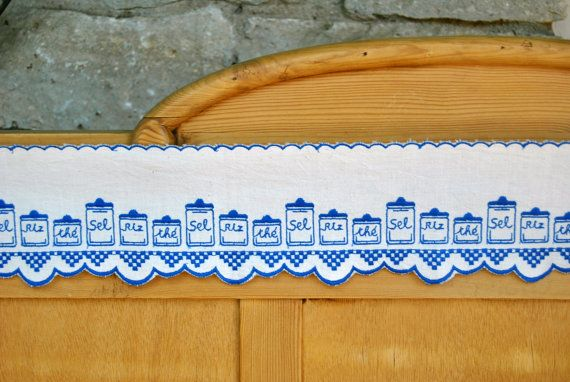 Sale on 1950s French embroidered cotton shelf border with scallops. $22.95, via Etsy.