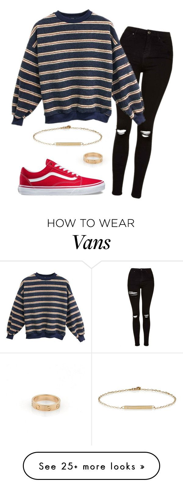 """""""#No name"""" by eemaj on Polyvore featuring Cartier, Topshop, Vans and Loren Stewart"""