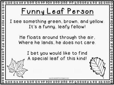 Free Leaf Man Poem & Art Project Idea