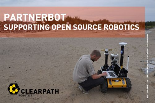 The PartnerBot Grant Program is a one-year commitment during which a prestigious research team will use the Clearpath Robotics Husky A200 to pursue its research goal, publish for public review, and add code to the rapidly growing open source ROS (Robot Operating System) community.