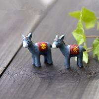 Venda linda animais donkey 3*3 cm gnomo de jardim de fadas em miniatura bonsai musgo terrário decoração artesanato decoração para casa