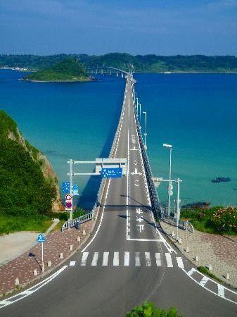 Tsunoshima Bridge @ Yamaguchi, Japan 角島大橋 山口県