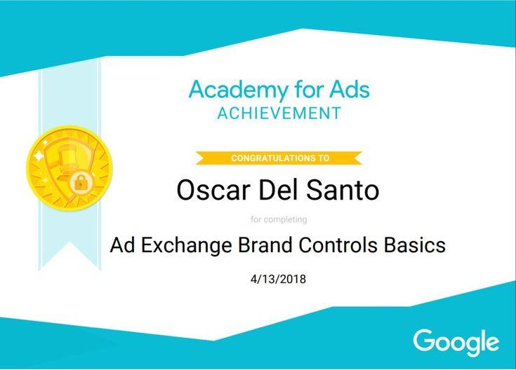 Google AdExchange Brand Controls Basic, 13/4/2018